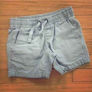 Lands' End size 4 elastic waist gray shorts